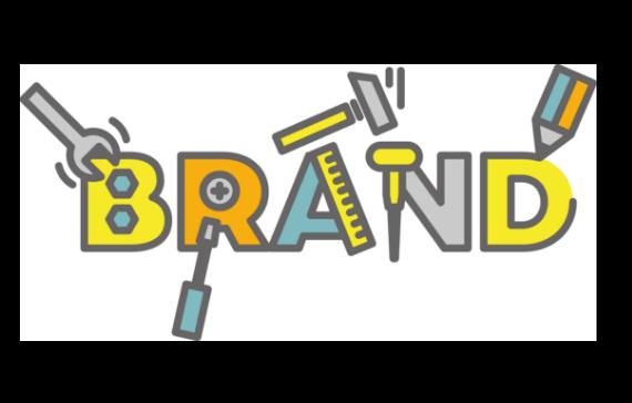 「BRAND」の文字をモチーフに、工具を使ってそれぞれの文字を製作。ブランドを強化させるイメージイラスト。