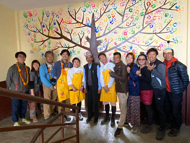 SDL校長先生とネパール支援メンバー