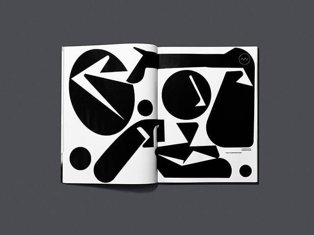 雑誌『ブレーン』の見開きページを使ったアートデザイン