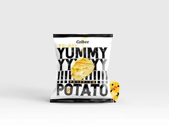 期間・地域限定ポテトチップス「ヤミーポテト やみつきチーズ味」パッケージ制作